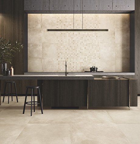 Porcelain stoneware kitchen coverings: ideas and solutions for every style
