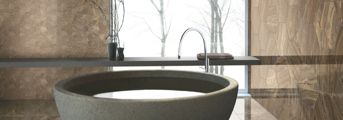 Marble-effect ceramics: the Marmoker collection from the Granitoker line