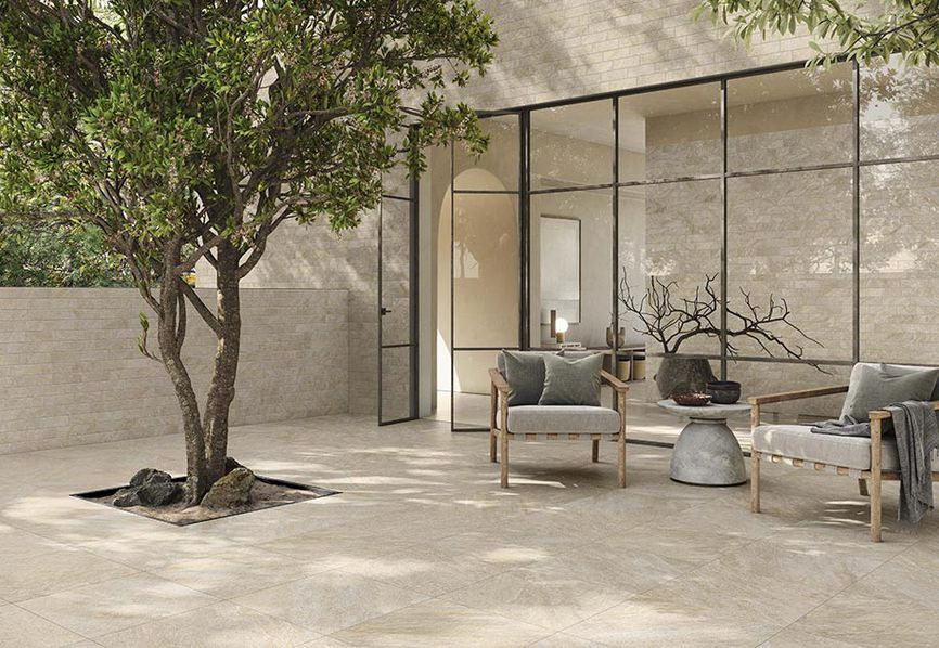 Petra: the natural charm of stone, in porcelain stoneware