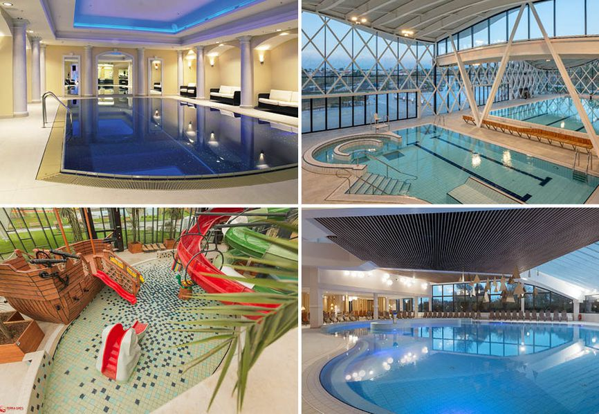 The use of porcelain stoneware in sports centres, public swimming pools, wellness centres and spas