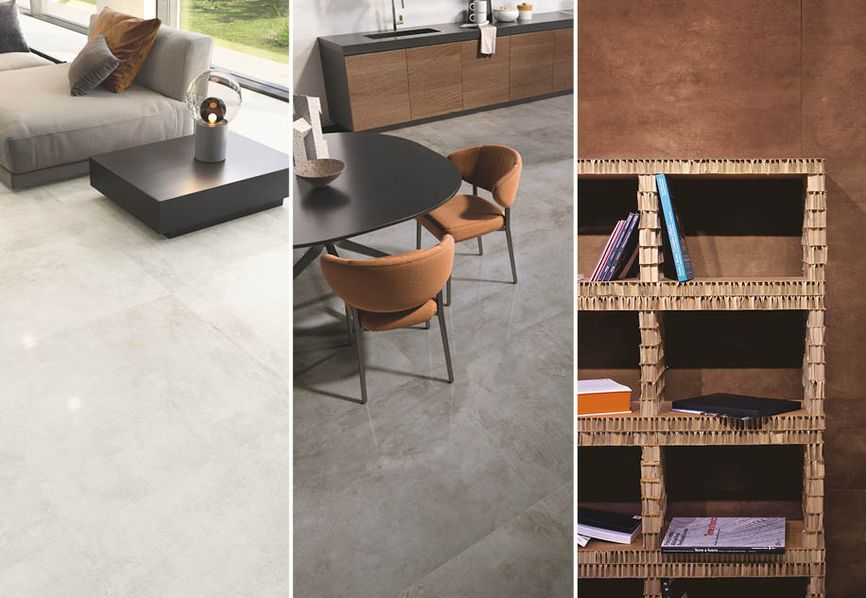 How Casalgrande Padana's metal-effect porcelain stoneware tiles can give your home a contemporary look