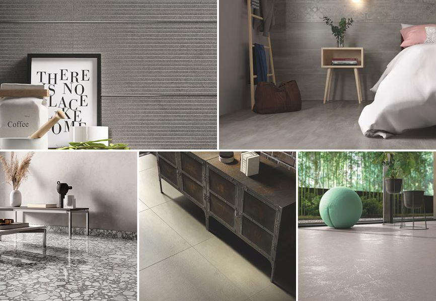 Shades of grey, or how to add an elegant touch with Casalgrande Padana porcelain stoneware tiles